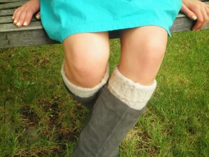 upcycled slipper boots
