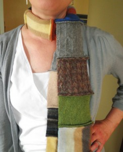 upcycled sweater scarf