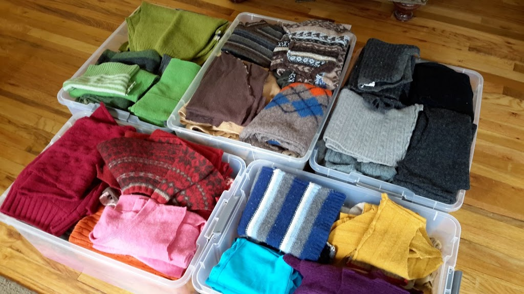 How to organize and store felted wool sweaters