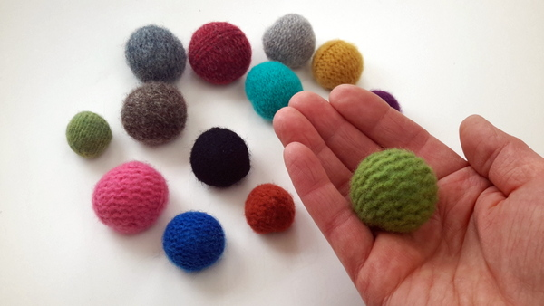 felted wool sweater balls