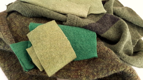green felted wool sweaters