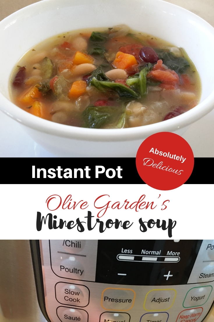 Instant Pot minestrone soup - youmakeitsimple.com