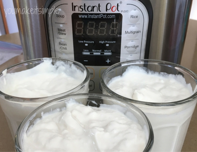 Instant Pot Yogurt - youmakeitsimple.com