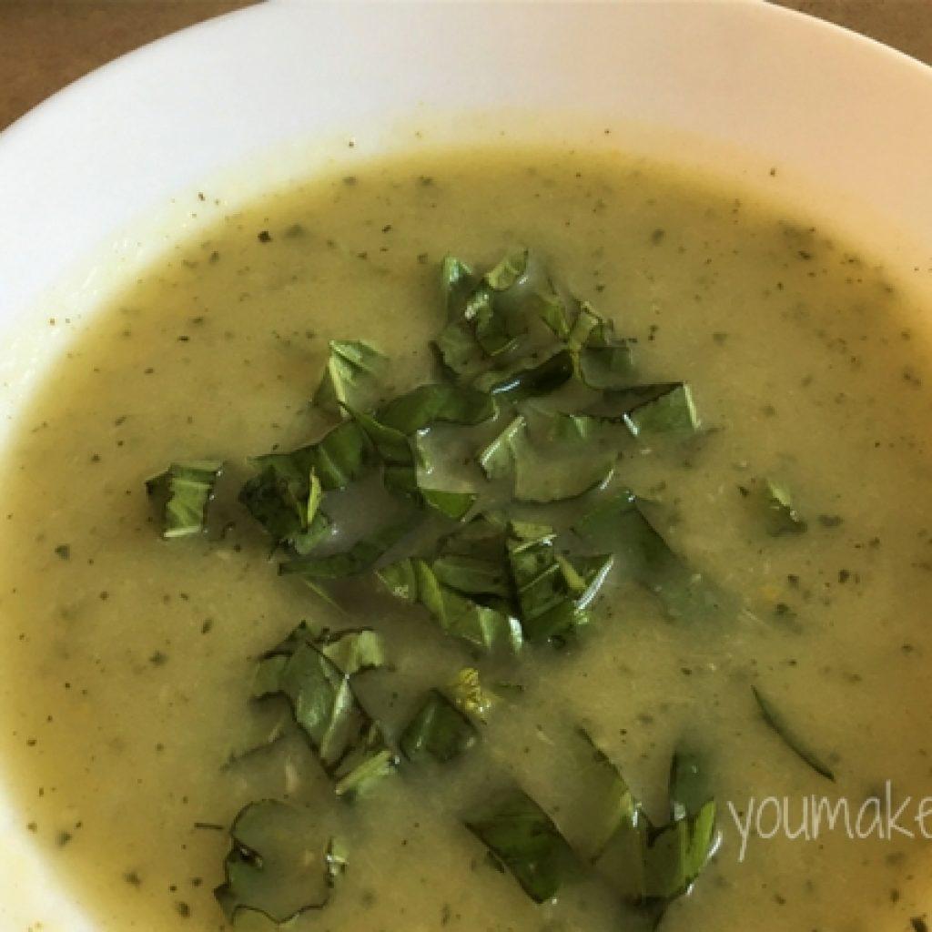zucchini & basil soup