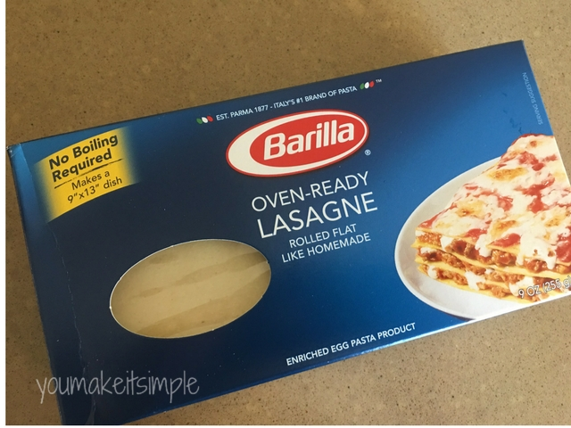 Instant Pot Lasagna noodles