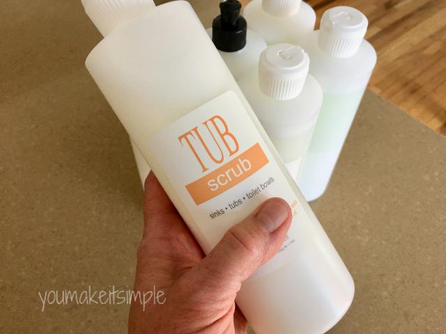 tub scrub - youmakeitsimple.com