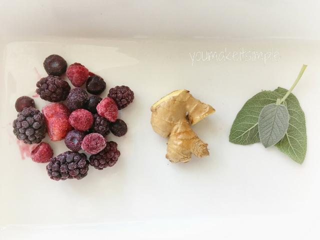 berries ginger sage