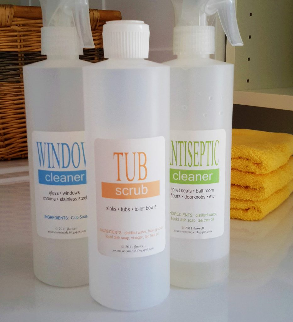 natural bathroom cleaner set