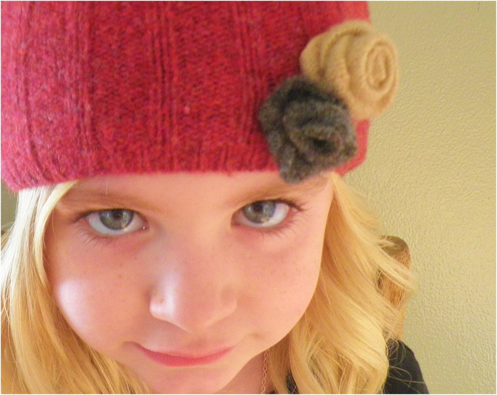 upcycled sweater hats