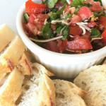 yummy bruschetta recipe youmakeitsimple.com