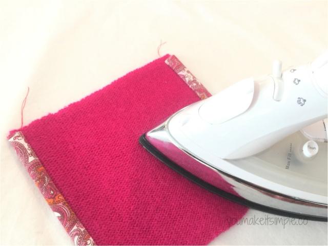 tissue pouch pressing