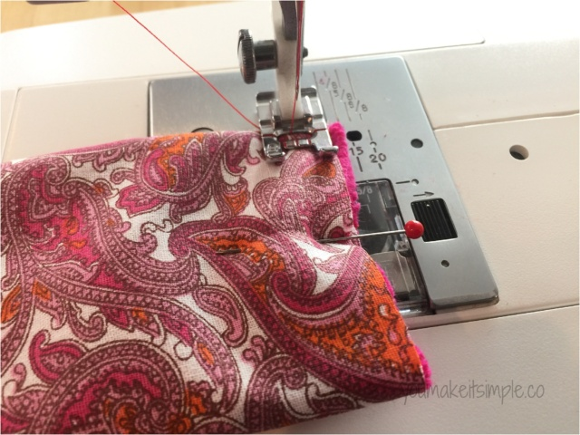 tissue pouch sewing