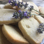 lavender shortbread cookie