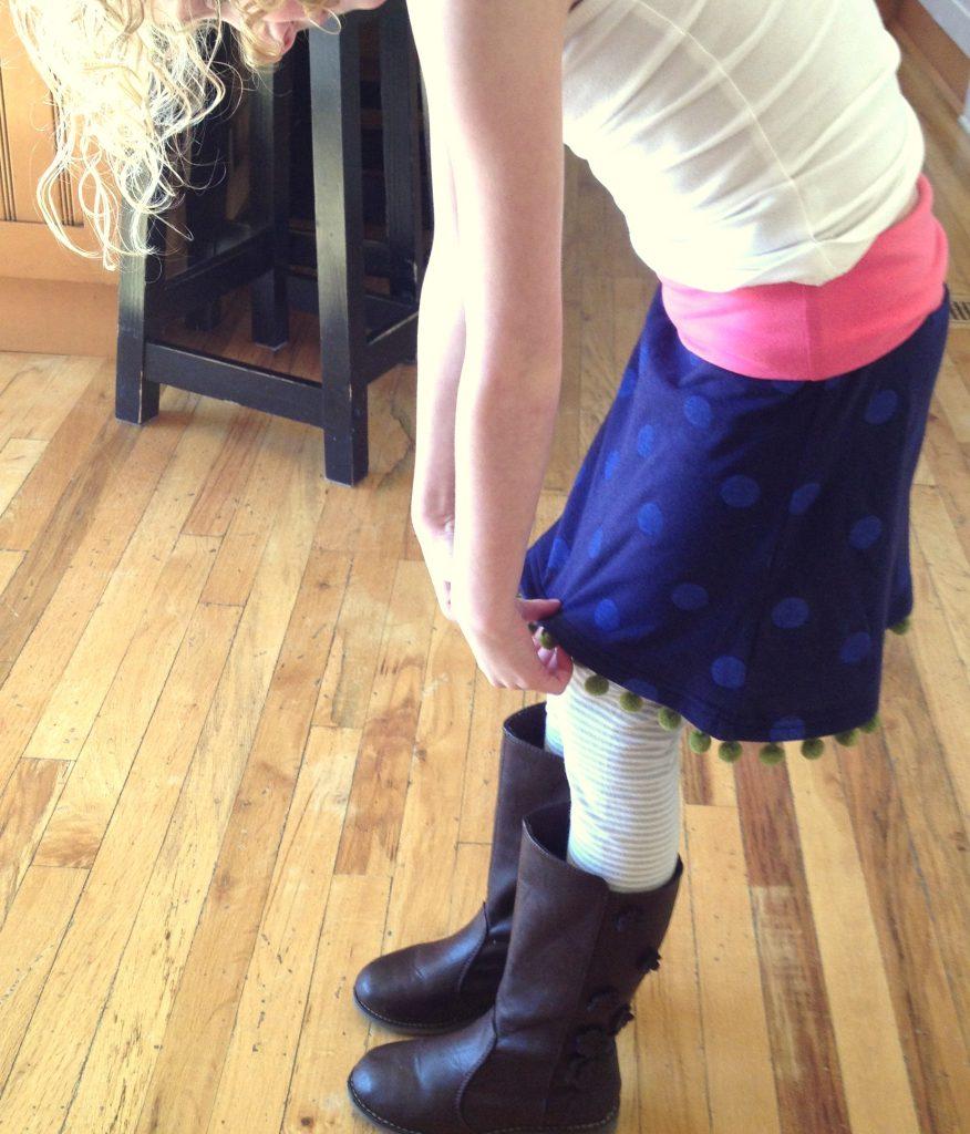 repurposed t shirts skirt