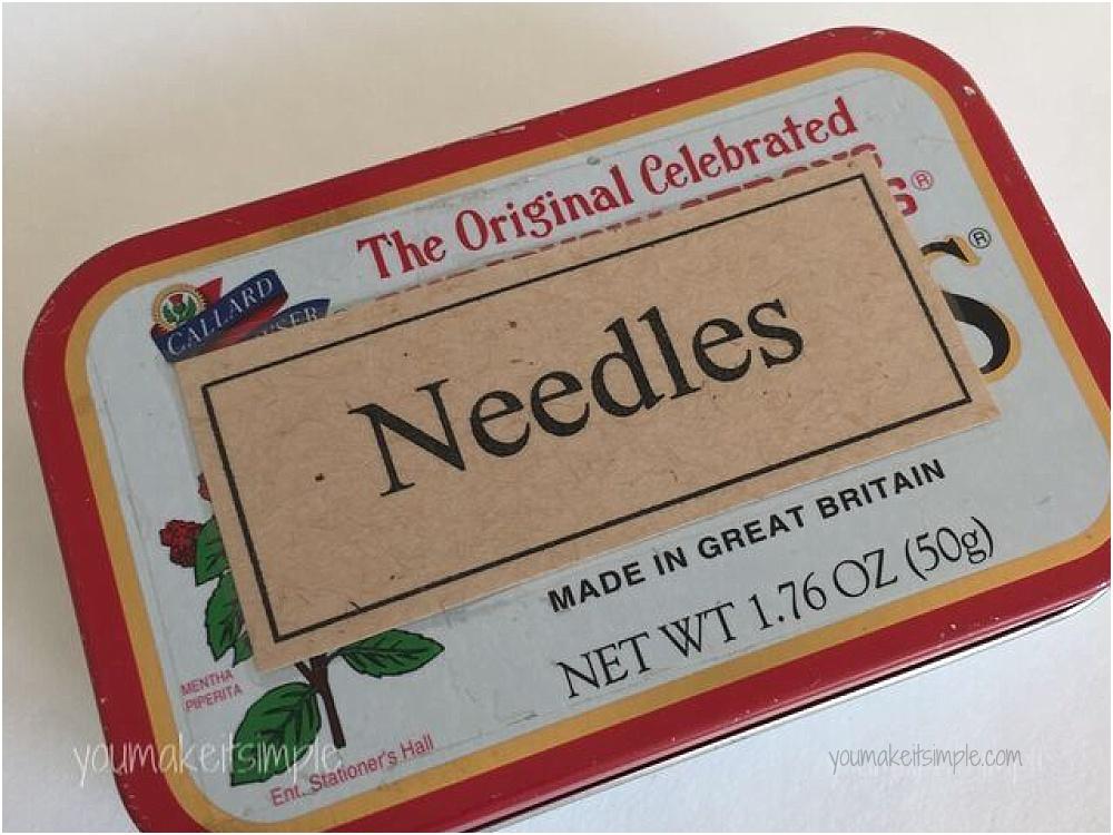sewing machine needle tin