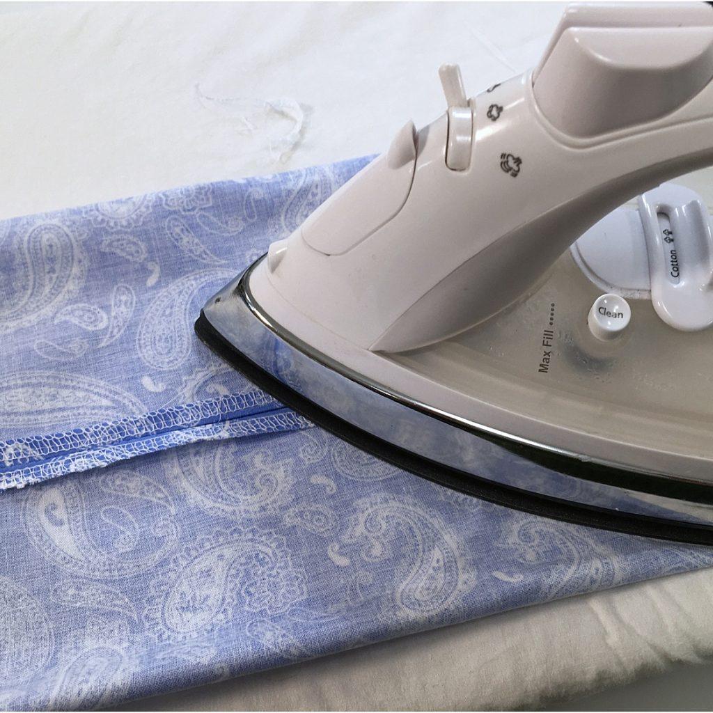 face mask ironing