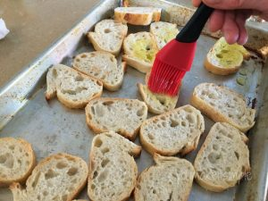 bruschetta bread basting