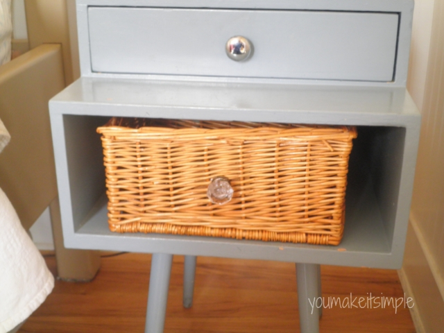 wicker basket drawer