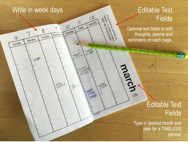 Bind Your Own Weekly Planner