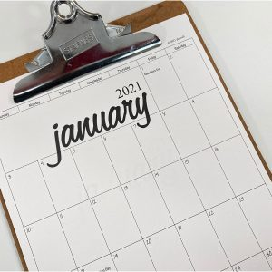 2021 clipboard calendar