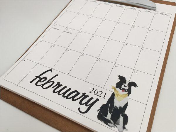2021 watercolor calendar