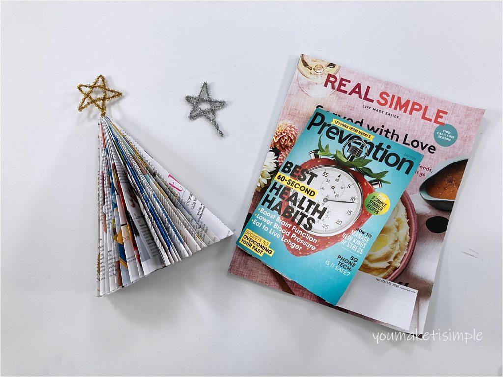 magazine Christmas tree youmakeitsimple.com