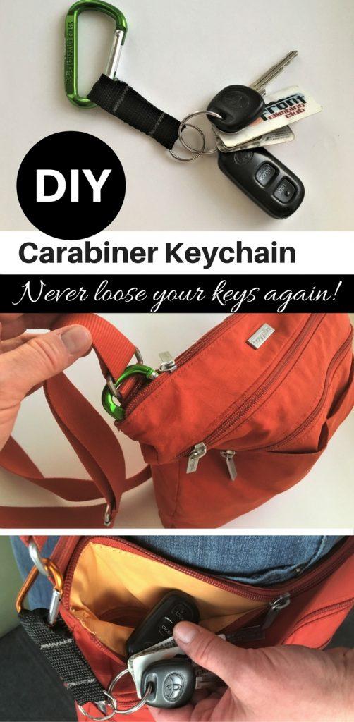 DIY carabiner keychain