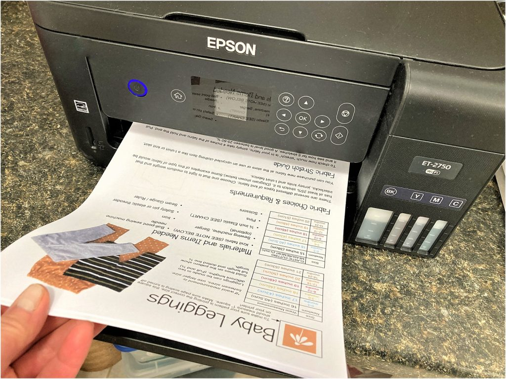PDF sewing patterns printing