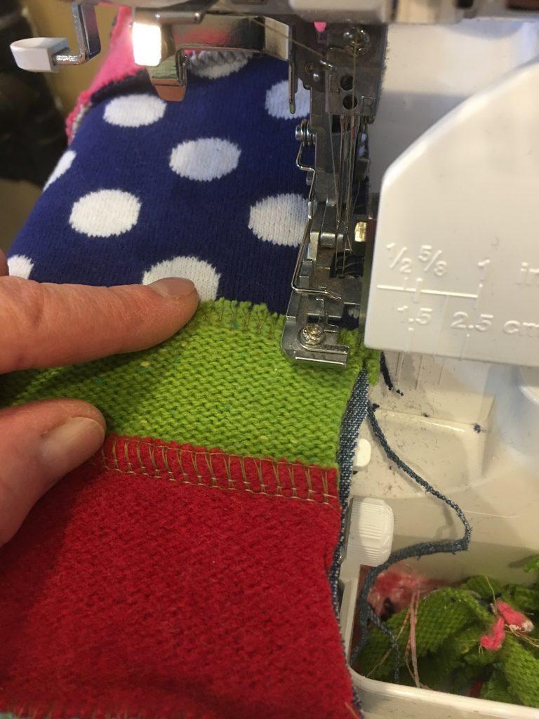Upcycled Sweater Christmas Stocking