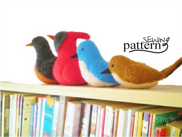 Upcycled Sweater Birds