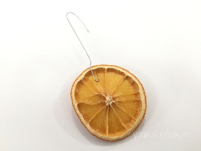 Dried Orange Slice Garland and Ornaments