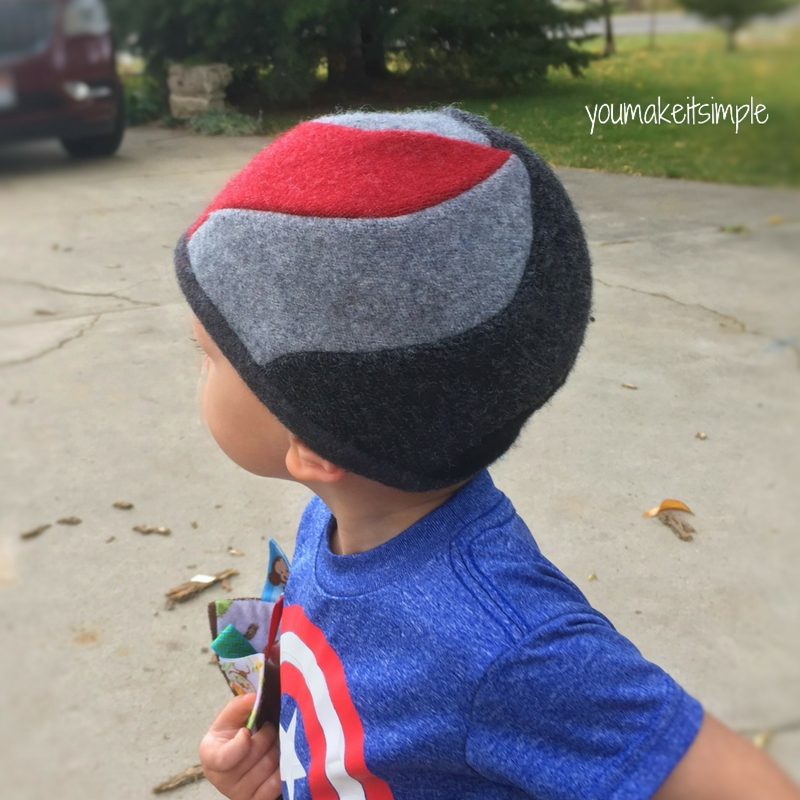 Upcycled Sweater Spiral Beanie