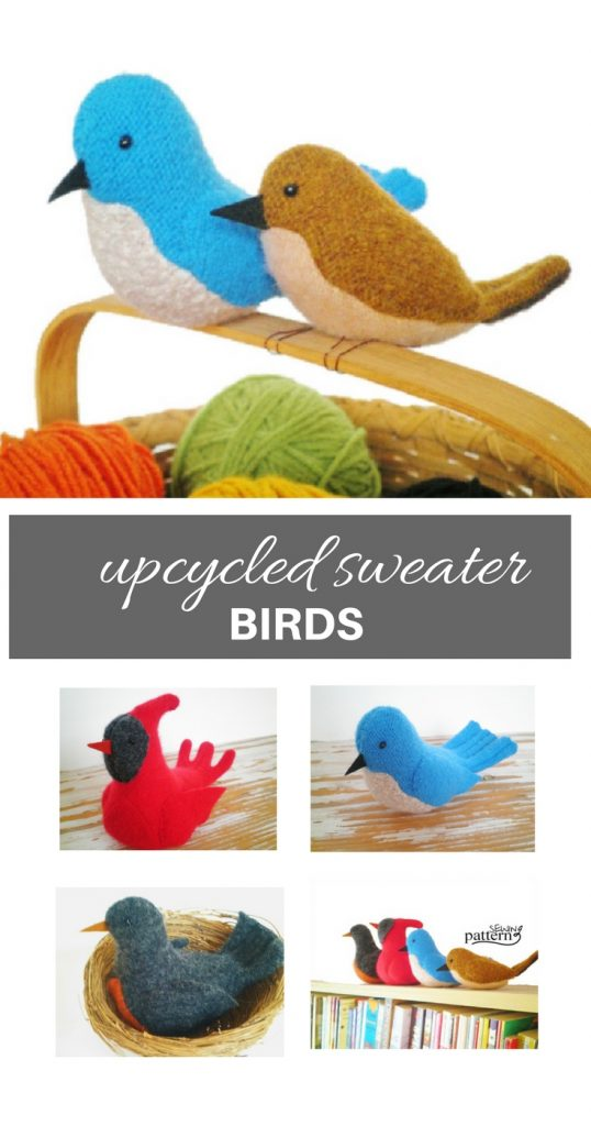 Upcycled Sweater Birds