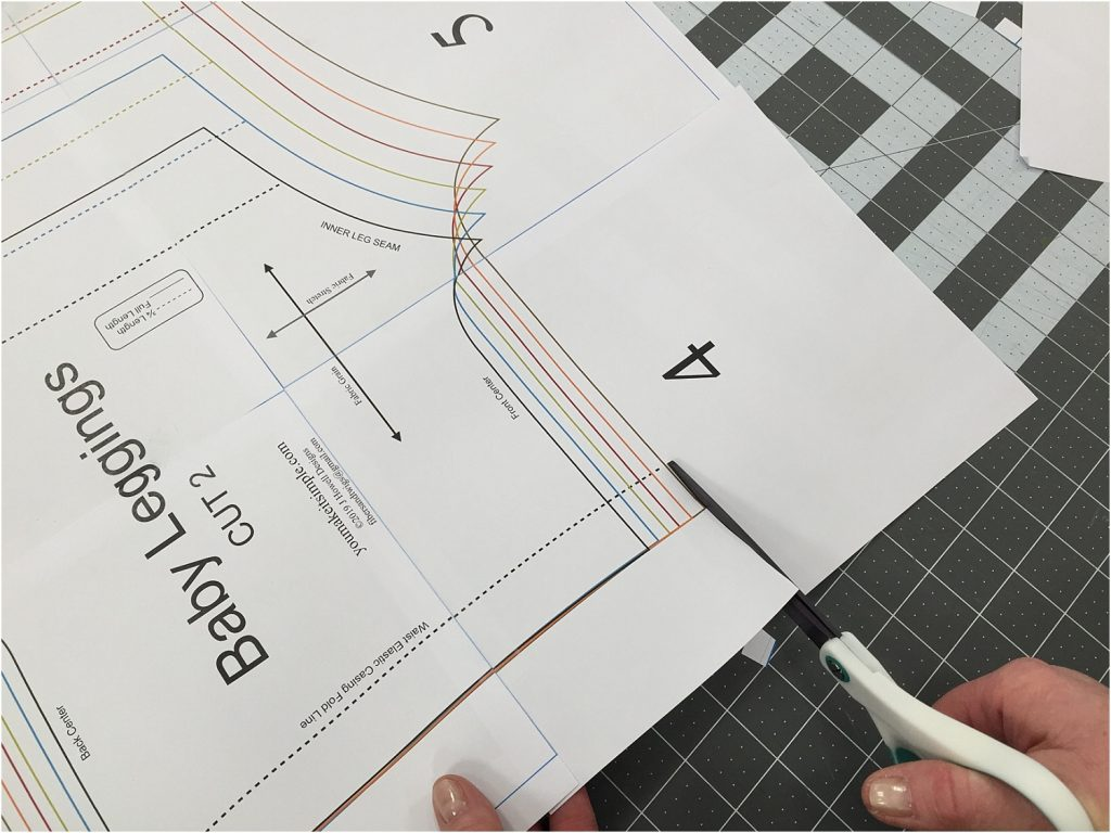 PDF sewing patterns cutting out