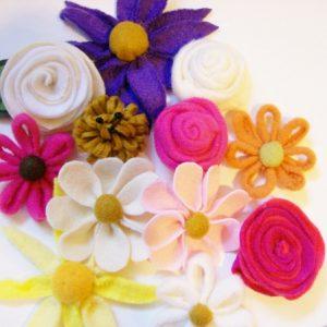 felt fleece flowers youmakeitsimple.com