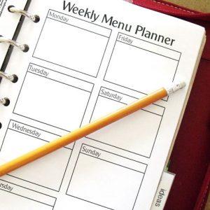 planner menu