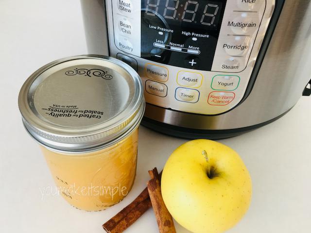 Instant Pot Applesauce Youmakeitsimple.com