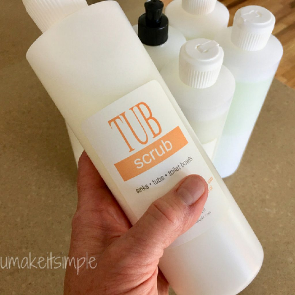 natural bathroom cleaner