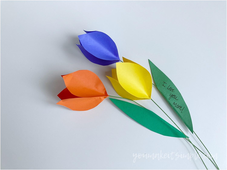 paper tulips youmakeitsimple.com