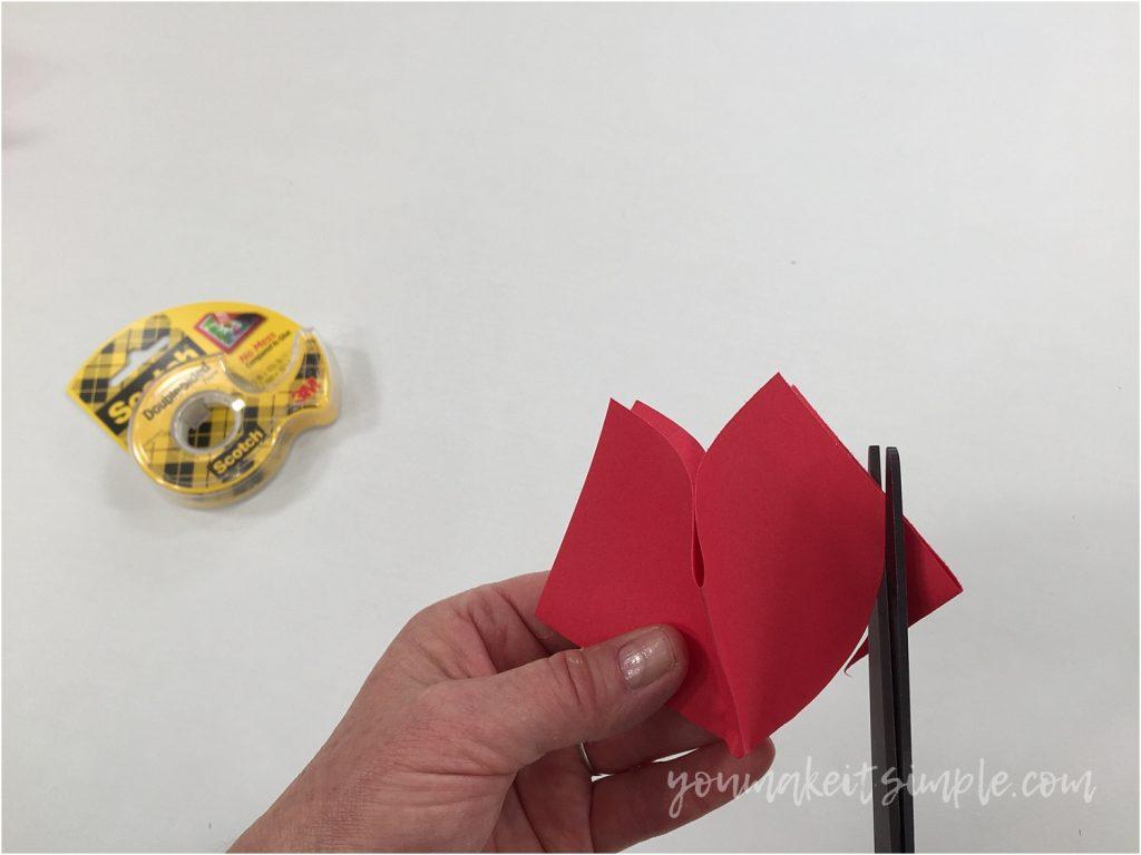 paper tulips cutting corners