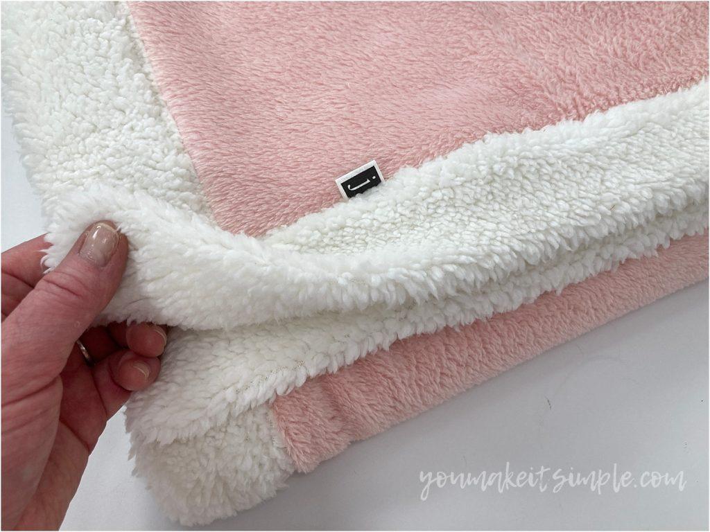 plush fabric blanket