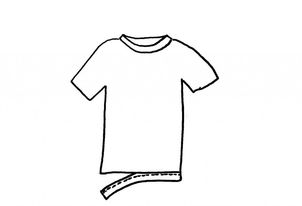 t-shirt yarn remove hem