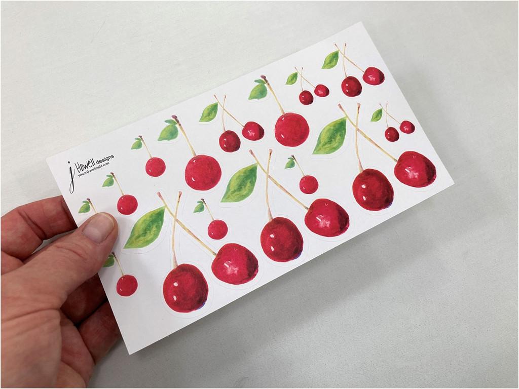 cherry stickers