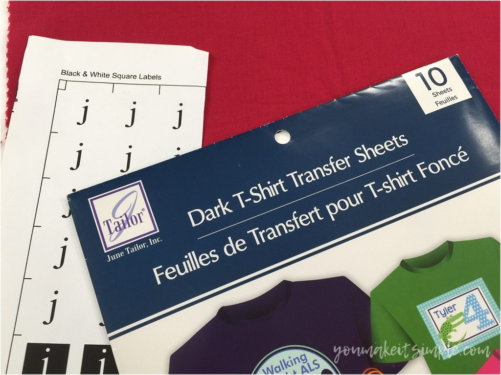 heat transfer paper dark and light