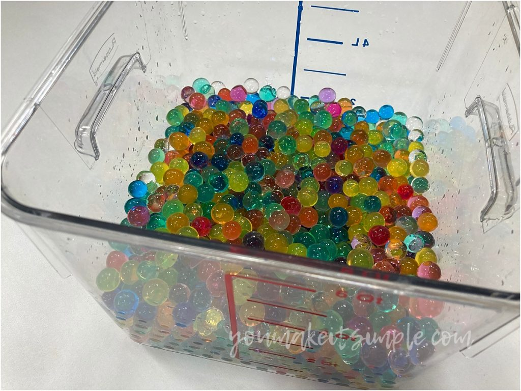 colored water beads neck cooling scarf