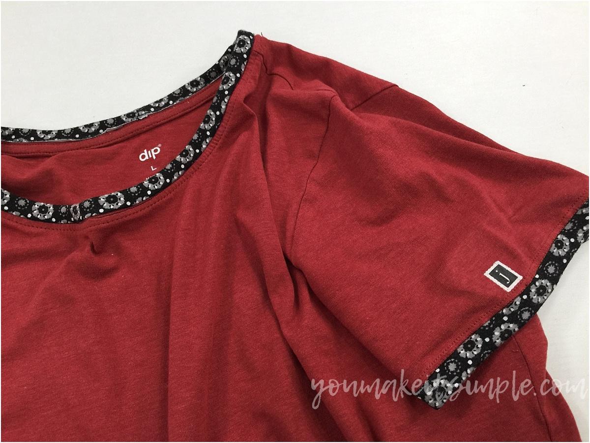 t-shirt sleeve binding
