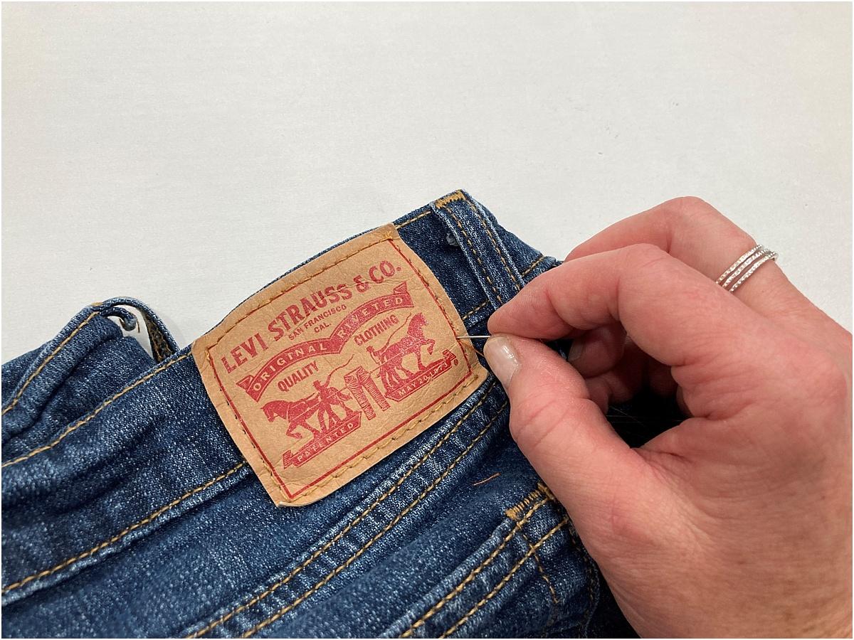 take in jeans at waist unpicking