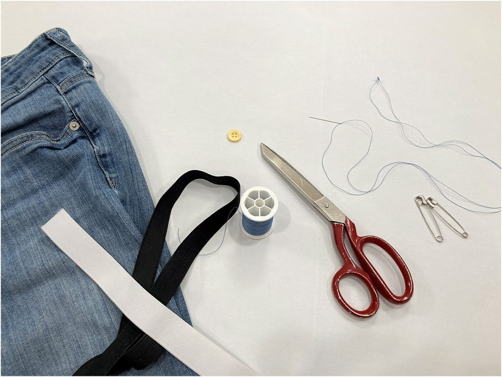 take in jeans at waist materials