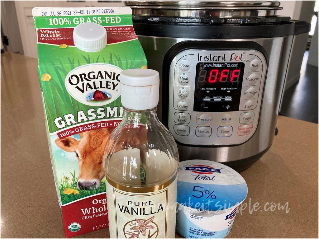 instant pot yogurt ingredients