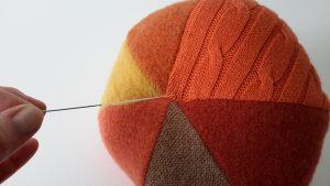 sweater pumpkins needle